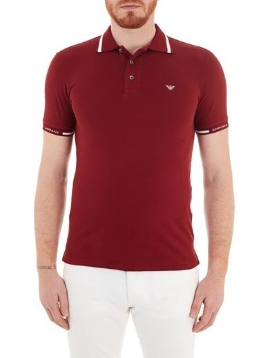 Emporio Armani  Pamuklu Düğmeli Polo T Shirt Erkek Polo S 6H1Ff5 1Jptz 0353 Bordo